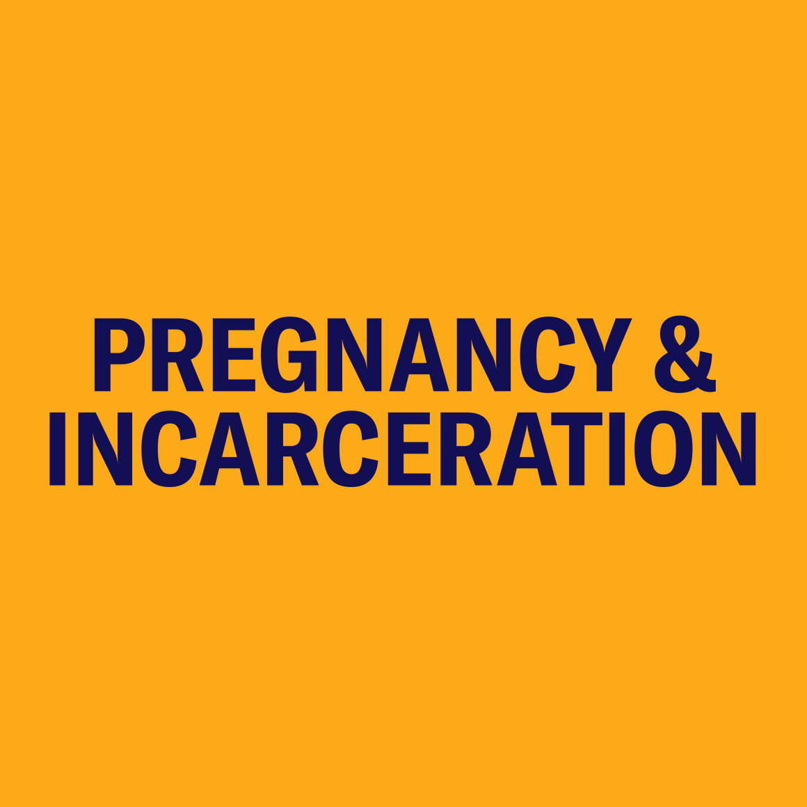 Pregnancy and Incarceration