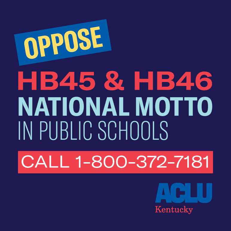 Call 1-800-372-7181 to oppose the national motto in public schools