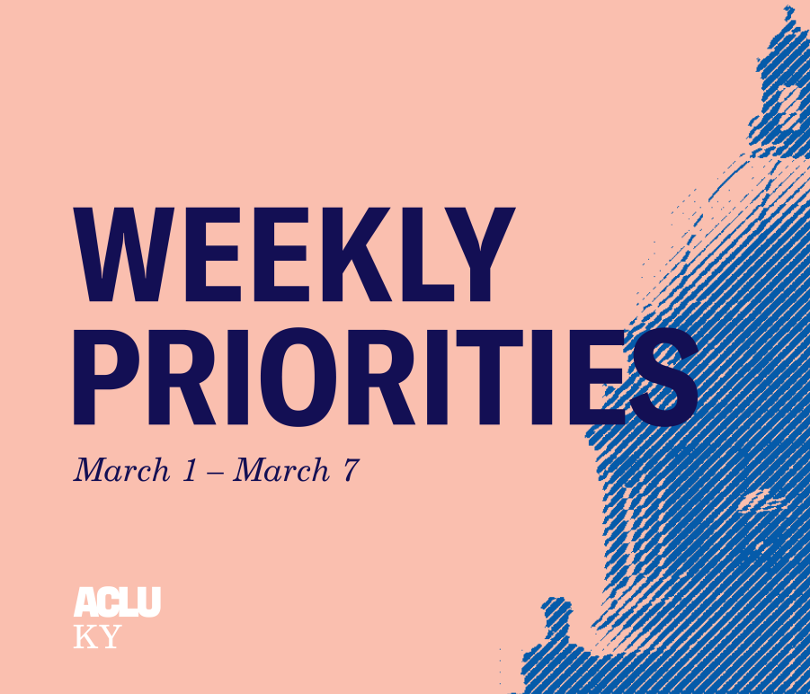 Weekly Priorities March 1 to 7