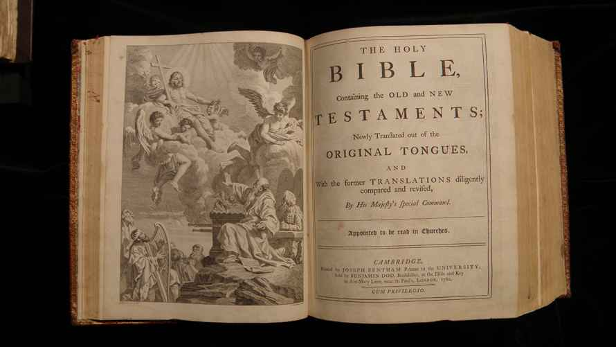 Photo of an open Bible