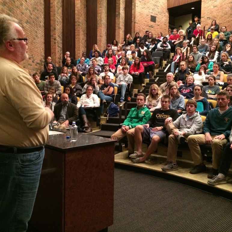 Death row exoneree speaks to students