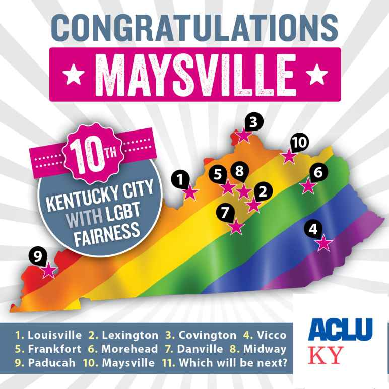 Maysville KY becomes 10th city with LGBT Fairness protections