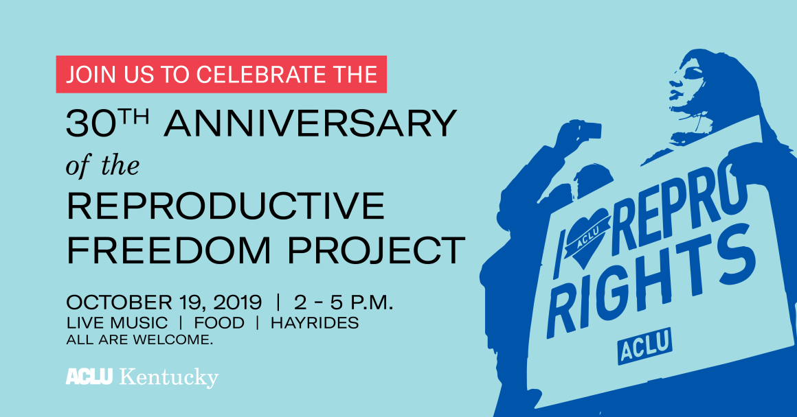 Join us to celebrate the 30th Anniversary of the Reproductive Freedom Project. October 19, 2019 from 2pm to 5pm. Featuring live music, food, and hayrides. All are welcome. Kindly RSVP for directions.