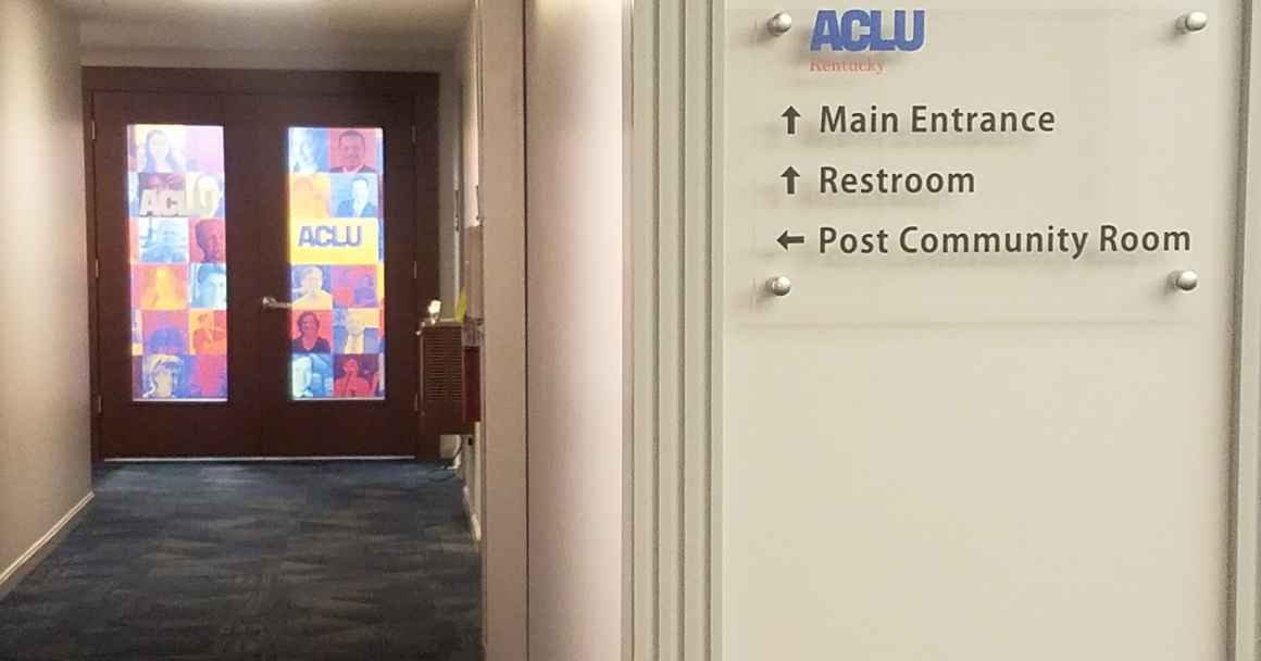 photo of ACLU-KY Office entryway