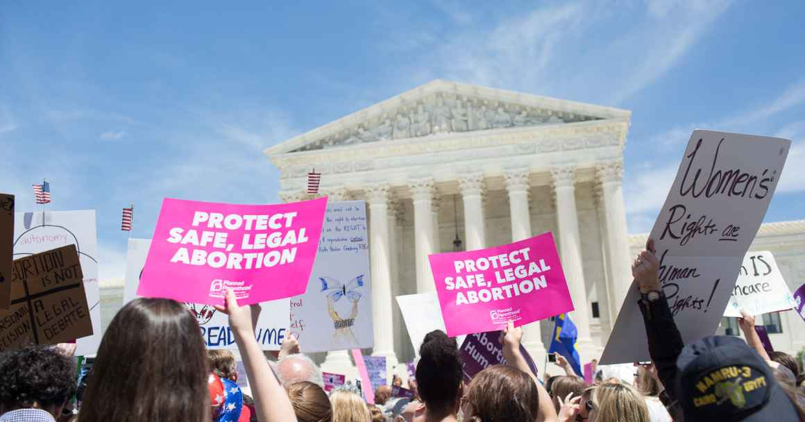 Protesters at SCOTUS for Abortion Rights