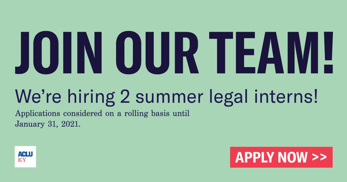 We're Hiring Legal Interns Link Share